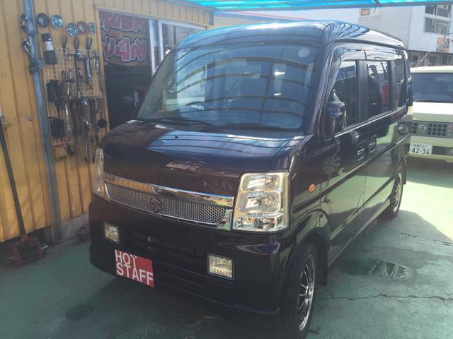 沖縄の中古車 スズキ エブリイワゴン 車両価格 49万円 リ済込 平成20年 9.2万km パープルM