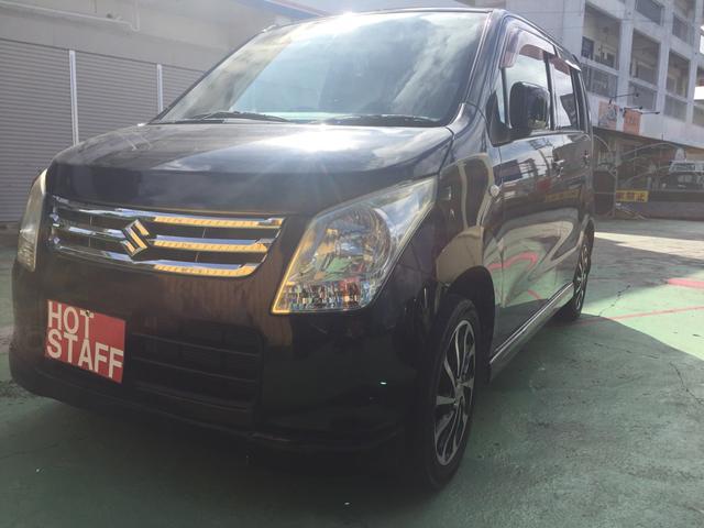沖縄の中古車 スズキ ワゴンR 車両価格 29万円 リ済込 平成21年 10.7万km ブラック