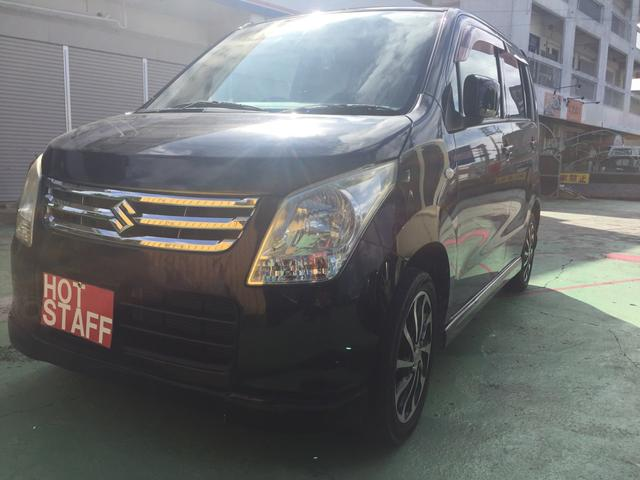 沖縄の中古車 スズキ ワゴンR 車両価格 26万円 リ済込 2009(平成21)年 10.7万km ブラック