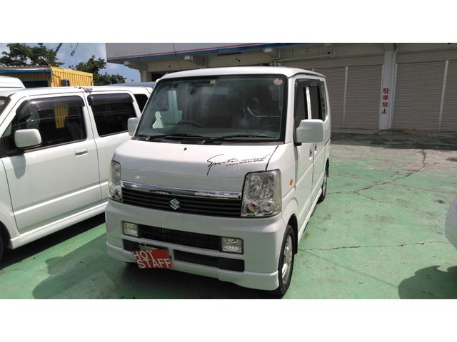 沖縄の中古車 スズキ エブリイワゴン 車両価格 36万円 リ済込 平成18年 11.7万km パールホワイト