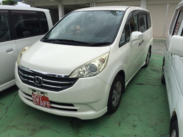 沖縄の中古車 ホンダ ステップワゴン 車両価格 35万円 リ済込 2008(平成20)年 10.4万km パールホワイト
