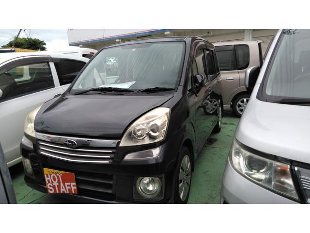 沖縄の中古車 スバル ステラ 車両価格 15万円 リ済込 2006(平成18)年 13.5万km ブラックM