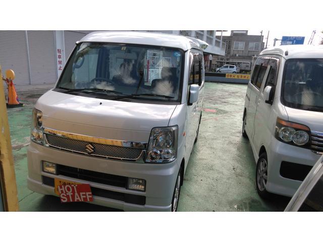 沖縄の中古車 スズキ エブリイワゴン 車両価格 46万円 リ済込 2009(平成21)年 10.6万km パールホワイト