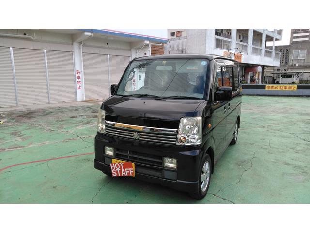 沖縄の中古車 スズキ エブリイワゴン 車両価格 29万円 リ済込 2006(平成18)年 13.2万km ブラックM
