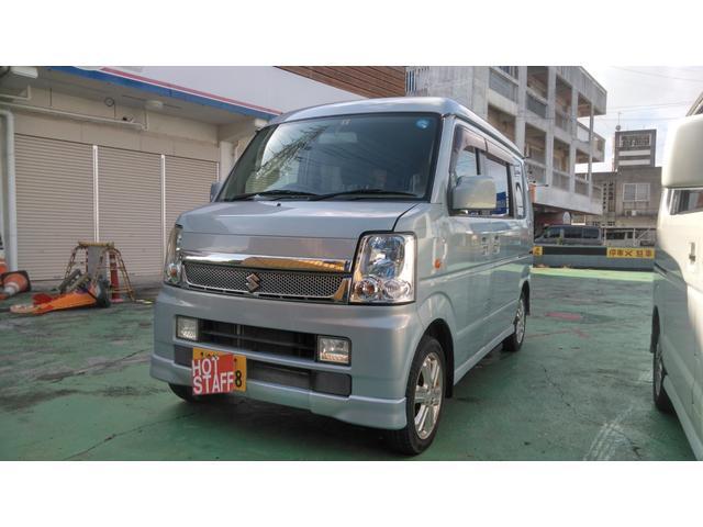 沖縄の中古車 スズキ エブリイワゴン 車両価格 48万円 リ済込 2009(平成21)年 8.3万km ライトブルーM