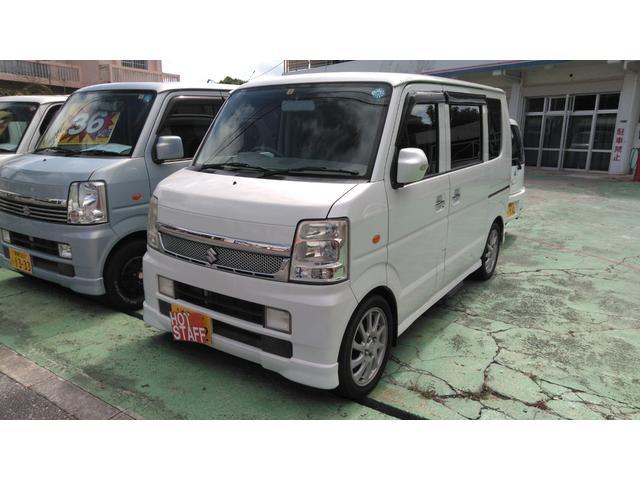 沖縄の中古車 スズキ エブリイワゴン 車両価格 45万円 リ済込 2007(平成19)年 10.3万km パールホワイト