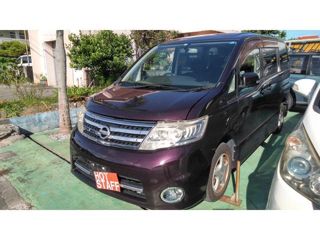 沖縄の中古車 日産 セレナ 車両価格 43万円 リ済込 2009(平成21)年 9.3万km ワインM