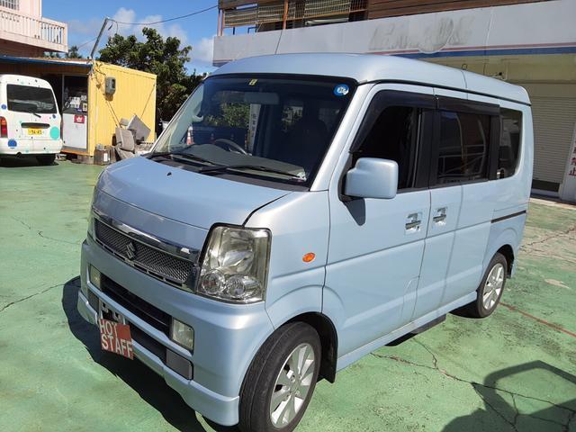 沖縄の中古車 スズキ エブリイワゴン 車両価格 45万円 リ済込 2009(平成21)年 9.5万km ライトブルーM