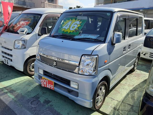 沖縄の中古車 スズキ エブリイワゴン 車両価格 45万円 リ済込 2009(平成21)年 9.2万km ライトブルーM