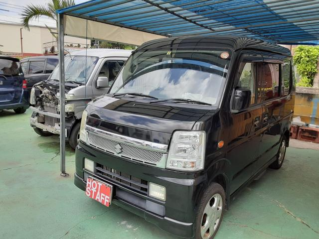 沖縄の中古車 スズキ エブリイワゴン 車両価格 46万円 リ済込 2008(平成20)年 8.5万km ブラックM