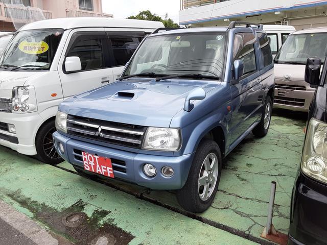 沖縄の中古車 三菱 パジェロミニ 車両価格 46万円 リ済込 2008(平成20)年 8.1万km ライトブルーM