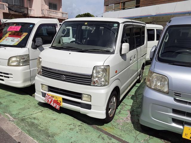 沖縄の中古車 スズキ エブリイワゴン 車両価格 39万円 リ済込 2007(平成19)年 9.3万km パールホワイト