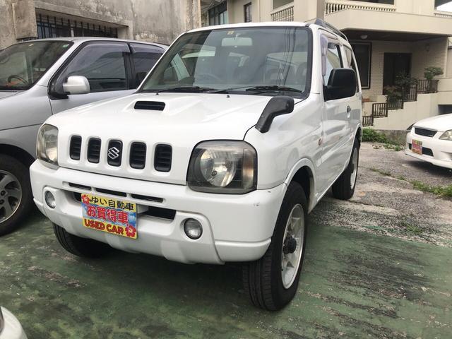 沖縄市 ゆい自動車 スズキ ジムニー パートタイム4WD ホワイト 15.6万km 1999(平成11)年