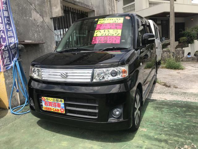 沖縄県の中古車ならワゴンR スティングレー ターボ スマートキー CD 純正フルエアロ
