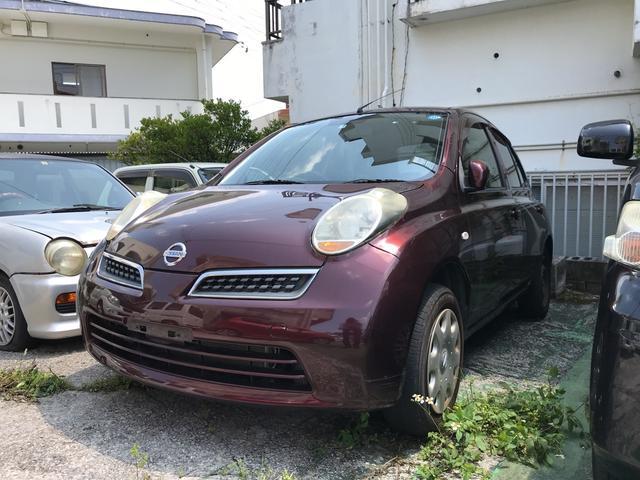 沖縄の中古車 日産 マーチ 車両価格 34万円 リ済込 2009(平成21)年 7.5万km ブラウン