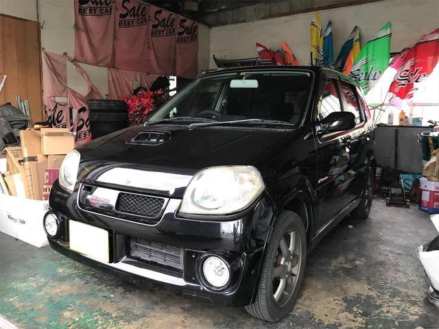 沖縄の中古車 スズキ Keiワークス 車両価格 17万円 リ済込 2004(平成16)年 18.3万km ブラック