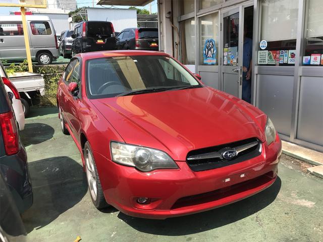 沖縄の中古車 スバル レガシィB4 車両価格 58万円 リ済込 2004(平成16)年 12.4万km レッド