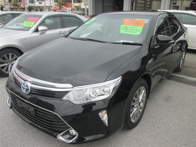 沖縄の中古車 トヨタ カムリ 車両価格 247.3万円 リ済別 平成28年 4.7万km ブラック