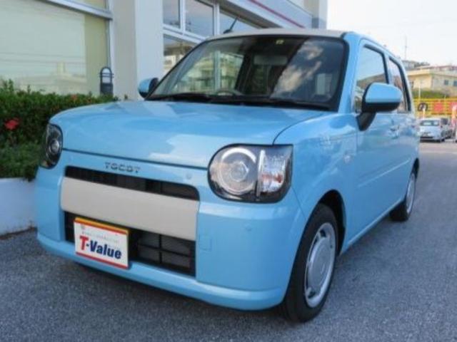 沖縄の中古車 ダイハツ ミラトコット 車両価格 99万円 リ済別 2018(平成30)年 0.2万km ブルー