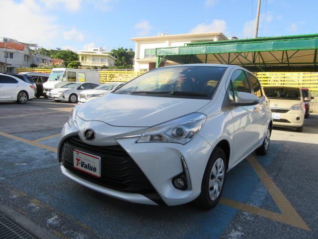 沖縄の中古車 トヨタ ヴィッツ 車両価格 124.3万円 リ済別 2019年 0.5万km ホワイトパールクリスタルシャイン