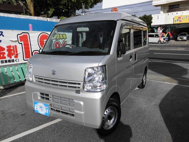 沖縄の中古車 スズキ エブリイ 車両価格 100万円 リ済別 2021(令和3)年 10km シルバー