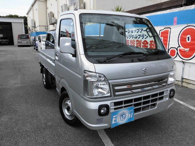 沖縄の中古車 スズキ キャリイトラック 車両価格 105.3万円 リ済別 2021(令和3)年 10km シルバー