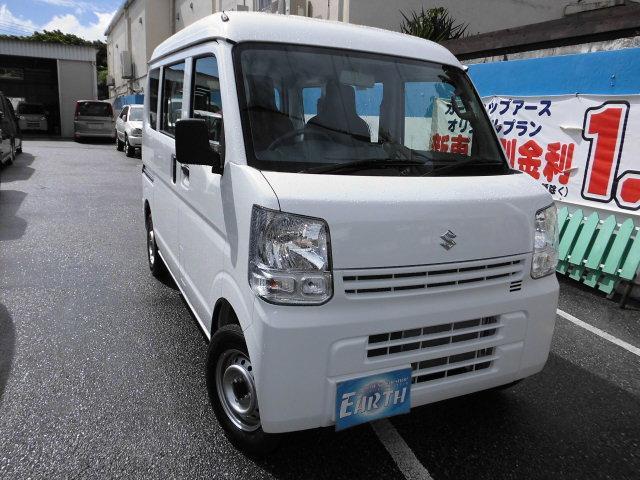 沖縄の中古車 スズキ エブリイ 車両価格 98万円 リ未 2017(平成29)年 4km ホワイト