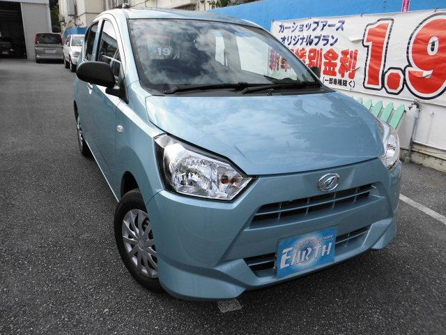 沖縄の中古車 ダイハツ ミライース 車両価格 89.1万円 リ未 新車  ライトブルー