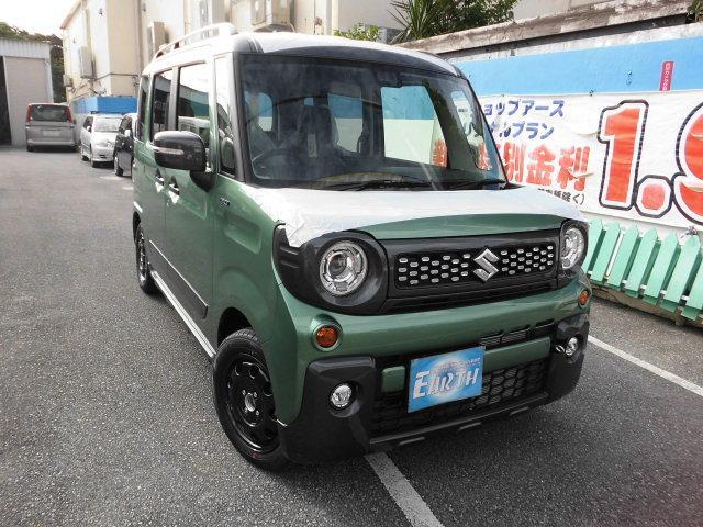 沖縄県の中古車ならスペーシアギア ハイブリッドXZ 新車 ナビ ブレーキサポート付