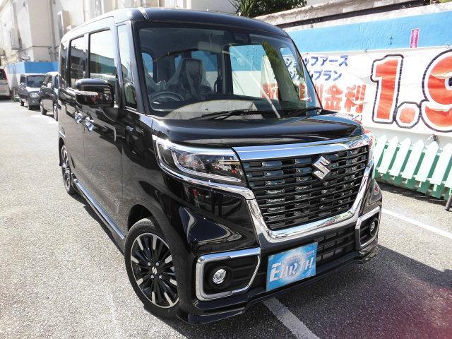 沖縄県の中古車ならスペーシアカスタム 新車 ハイブリッドXSターボ ナビ ブレーキサポート付