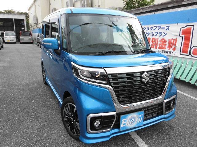 沖縄県の中古車ならスペーシアカスタム 新車ハイブリッドXS ナビ ブレーキサポート付