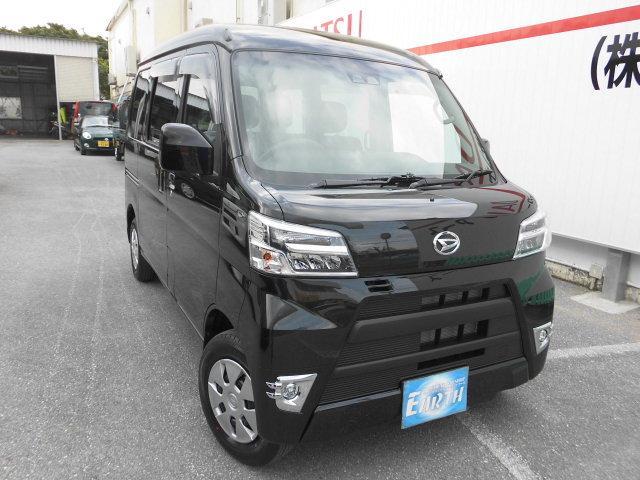 沖縄の中古車 ダイハツ ハイゼットカーゴ 車両価格 123万円 リ未 新車  ブラック