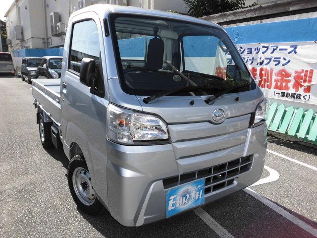 沖縄の中古車 ダイハツ ハイゼットトラック 車両価格 91.6万円 リ済込 2021(令和3)年 10km シルバーM