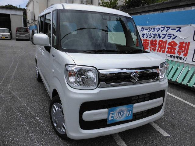 沖縄県の中古車ならスペーシア ハイブリッドX 新車 ナビ ブレーキサポート付