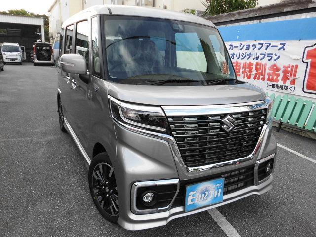 沖縄県の中古車ならスペーシアカスタム ハイブリッドXS 新車  ナビ ブレーキサポート付