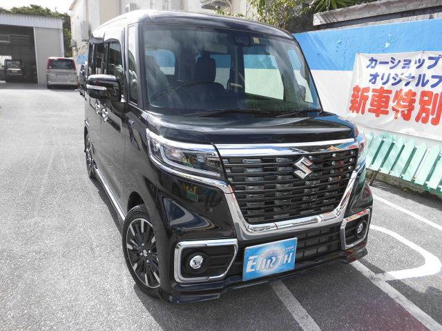 沖縄県の中古車ならスペーシアカスタム ハイブリッドXSターボ 新車 ナビ ブレーキサポート付