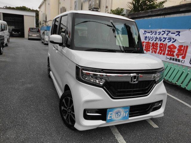 沖縄県の中古車ならN-BOXカスタム G・Lホンダセンシング 新車 ナビ・バックカメラ付き