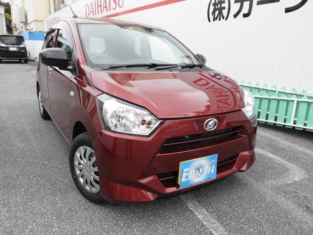 沖縄の中古車 ダイハツ ミライース 車両価格 89.1万円 リ未 2021(令和3)年 10km ダークレッドM