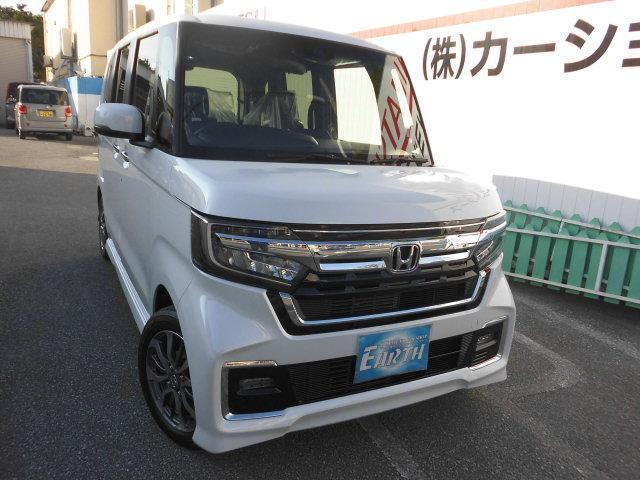沖縄県の中古車ならN-BOXカスタム L 新車 ナビ・バックカメラ付き