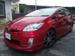 沖縄の中古車 トヨタ プリウス 車両価格 89万円 リ済別 平成22年 9.3万K レッド