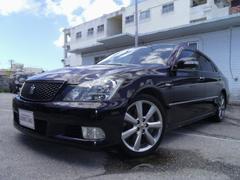沖縄の中古車 トヨタ クラウン 車両価格 69万円 リ済別 平成17年 10.8万K ブラック