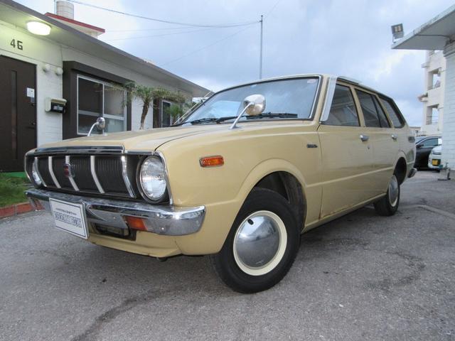 沖縄県の中古車ならカローラバン 2オーナー車 点検記録簿付き ベージュ革張りシート