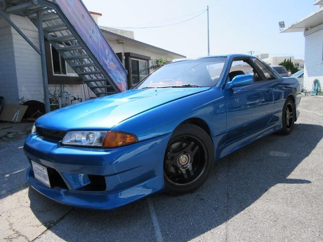 沖縄県の中古車ならスカイライン GTS-tタイプ社外フルエアロ 社外マフラー 社外アルミ