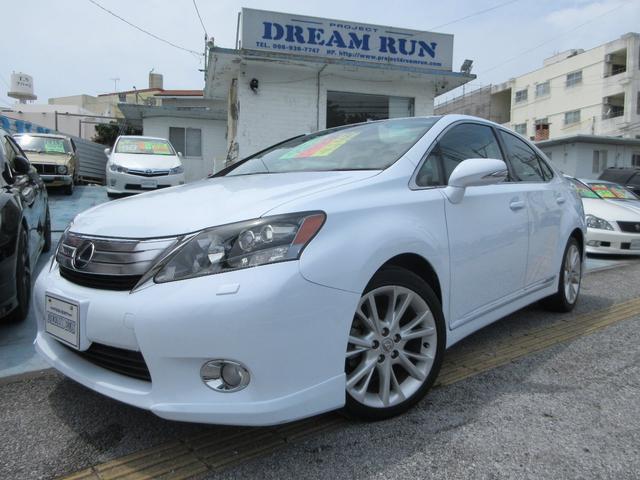 沖縄の中古車 レクサス HS 車両価格 125万円 リ済別 平成21年 6.6万km パールホワイト