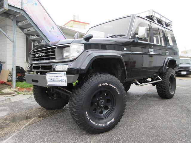 沖縄の中古車 トヨタ ランドクルーザープラド 車両価格 149万円 リ済別 平成7年 25.0万km ブラック