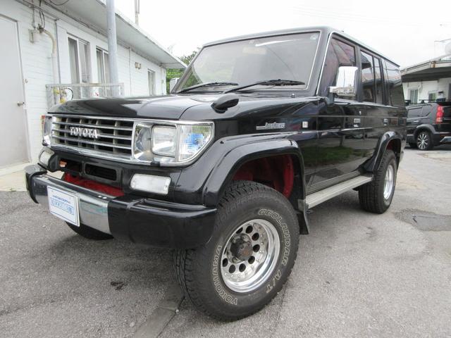 沖縄県の中古車ならランドクルーザープラド EXワイド リフトアップ サンルーフ 社外アルミ 社外テール