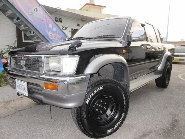 沖縄の中古車 トヨタ ハイラックスピックアップ 車両価格 138万円 リ済別 1996(平成8)年 20.0万km ブラックII