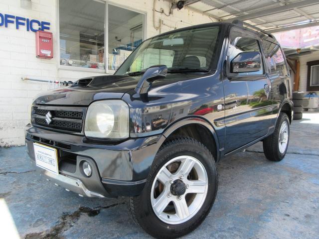 沖縄の中古車 スズキ ジムニー 車両価格 65万円 リ済別 2005(平成17)年 14.7万km ブラック