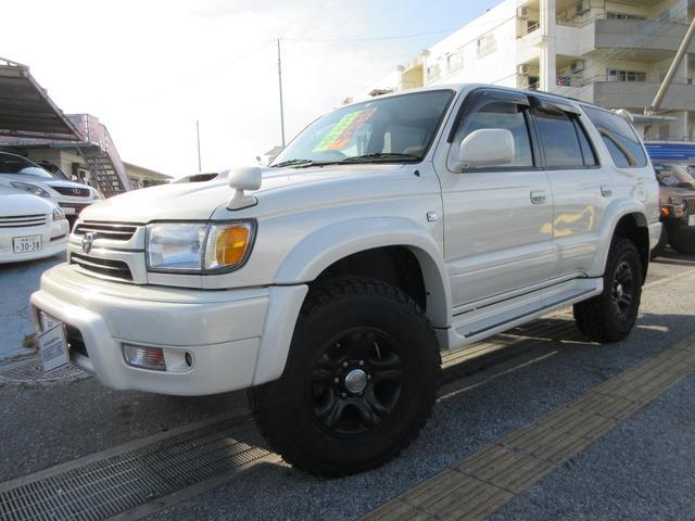 沖縄の中古車 トヨタ ハイラックスサーフ 車両価格 125万円 リ済別 2002(平成14)年 19.6万km ホワイト