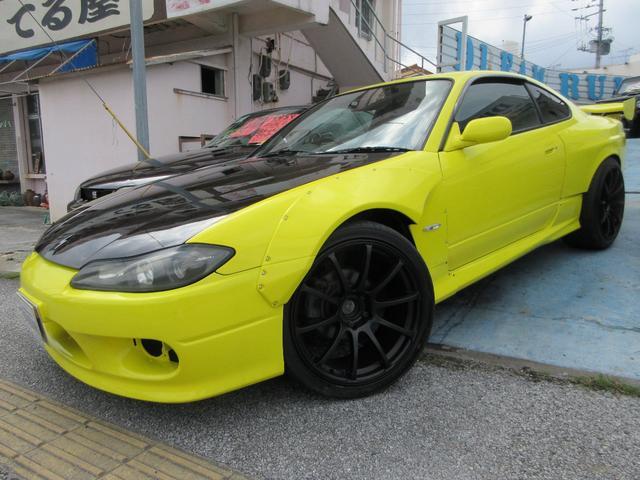 沖縄の中古車 日産 シルビア 車両価格 129万円 リ済別 1999(平成11)年 17.7万km イエロー